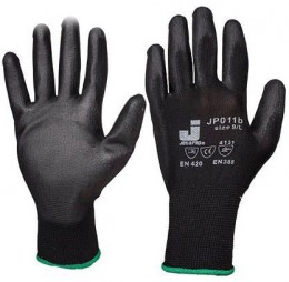 Защитные перчатки из полиэфирной пряжи с полиуретановым покрытием Jeta Pro