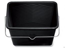 Ведро д/краски прямоугольное, черный пластик Dufa